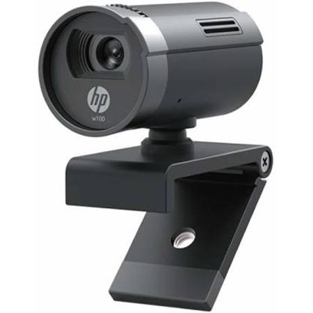 HP - HP 1W4W4AA W100 480p/30 Fps Webcam  (Black)-HP 1W4W4AA W100 480p/30 Fps Webcam  (Black)