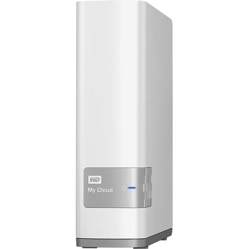 Western Digital My Cloud 4 TB Wired Desktop External Hard Drive (White)-Western Digital My Cloud 4 TB Wired Desktop External Hard Drive (White)