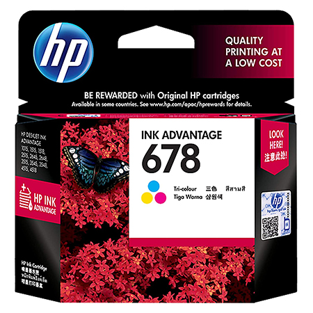 HP 678 Tri-color Ink Cartridge CZ108AA
